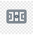 hockey mask concept linear icon isolated on vector image vector image