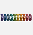 horizontal numbered color arrows for text vector image vector image