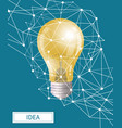 idea in business electric bulb with shapes vector image vector image