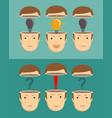 leadership concept set vector image vector image