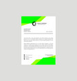 letterhead design template vector image vector image