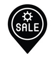 location pin icon summer sale related vector image vector image