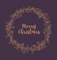 merry christmas wish inside wreath or circular vector image