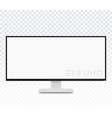monitor mockup display with ultra wide screen vector image vector image
