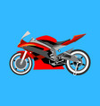 motorcycle with many details on a blue background vector image