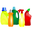 multicolor cleaning products vector image vector image