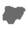 nigeria map from 3d black cubes isometric