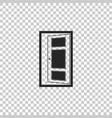 open door icon isolated on transparent background vector image vector image