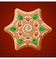 Ornate realistic traditional Christmas vector image vector image