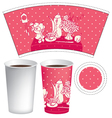 paper cup of tea vector image vector image