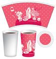 Paper cup of tea vector image