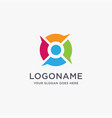 person and bubble talk logo icon template vector image vector image