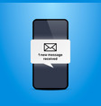 phone text message vector image