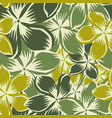 plumeria green yellow seamless pattern vector image vector image