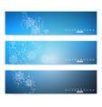 scientific set of modern banners dna vector image vector image