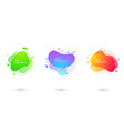 set abstract liquid shape dynamical colored vector image