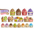 set ice creams vector image