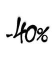 sprayed -40 percent graffiti with overspray