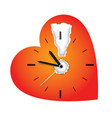 time limit on love concept vector image vector image