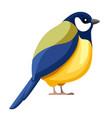 titmouse bird sitting flat cartoon character vector image vector image