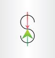 us dollar variation money banking symbol vector image