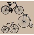 vintage bicycles vector image vector image
