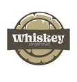 whiskey house isolated icon wooden barrel top vector image vector image