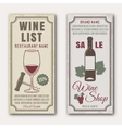 Wine Vertical Banners vector image