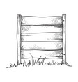 wooden sketch board on a grass vector image