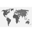 world map isolated on transparent background vector image