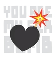 You are my sex bomb Valentines Day card vector image vector image