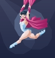 Young circus artist perform vector image vector image