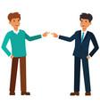 unemployed and employeed businessman cartoon flat vector image