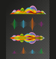 abstract colored sound wave design elements vector image