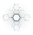 abstract molecules with hexagon paper vector image vector image