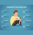 alcoholism infographic alcohol and drugs vector image vector image