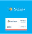 atoms logo design with business card template vector image vector image