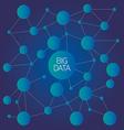Big data abstract molecule vector image vector image