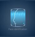 biometric identification face scanning modern vector image