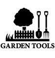 black garden landscaping icon vector image vector image