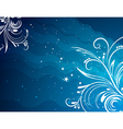 blue background with decorative ornaments vector image vector image