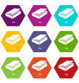 box icons set 9 vector image