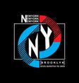 brooklyn remix typography t-shirt graphics vector image vector image