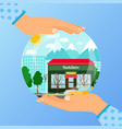 business concept for opening bookstore vector image vector image