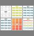 calendar 2021 collection design year planner vector image