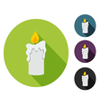 Candle flat vector image vector image