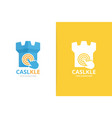 castle and click logo combination tower vector image vector image