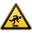 caution unobtrusive obstacle safety sign vector image vector image