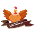 Chicken and bown ribbon vector image vector image