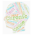 chronic bronchitis text background wordcloud vector image vector image